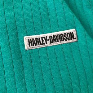 Harley-Davidson Tops - ☀️ Ruffle Trim Harley Davidson Shirt Small Green